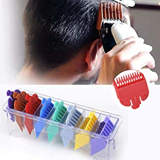 Professional Hair Clipper Guards Guide Combs, 8 Color Coded 1/8'' to 1'' Replacement Cutting Guides Set with Organizer, Compatible with all Whal Clippers