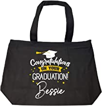 Personalized Graduation Gift Bessie Girl Women Name - Tote Bag With Zip