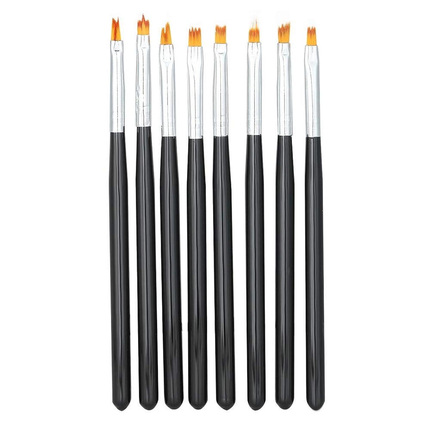 櫛首品種ネイルアートペンブラシセット、8枚花描画絵画花びらグラデーションペンマニキュアツール