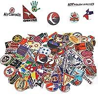 133枚 ステッカー 防水 レトロ 世界航空会社 有名スポット 国旗 ステッカー アウトドア スケボー 車 ステッカー バイク(World Tour)はがき by Kungfu Mall