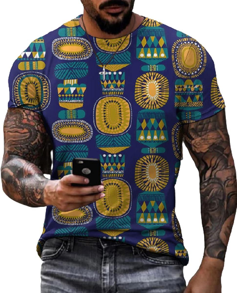 SENDEREAL Men's T Shirts 3D Printed Graphic T-Shirt Short Sleeve Summer Casual Top Tees