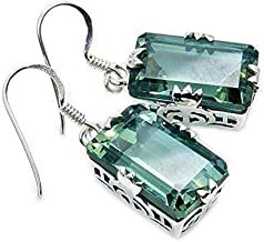 Shimmering Sterling Silver Lab Created Color Change Alexandrite Dangle Earrings