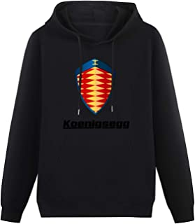 Men's Fashion Hoodies Koenigsegg Sports Cars Logo Hoodies Long Sleeve Pullover Loose Hoody Sweatershirt Black
