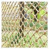 ZGQSW Kinder Sicherheitsnetz, Hanfseilnetz, Kletternetz, Balkontreppennetz, Fotowanddekoration Trennwand Deckennetz, Hindernisschutz Gartenzaunnetz, 2x5m (Size : 1 * 2m(3 * 7ft))