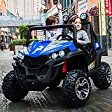 Ride-On Kids Electric utv RZR Side by Side Buggy 24V- Car2 SeatsRubber Wheels2 Update 200 Watts3 Speed 24 Volts.Music 7mph Huge Size utv 2021 with Parent Remote Control