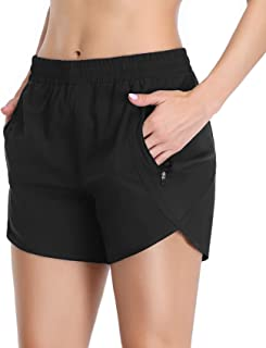 Oyamiki Women's Athletic Shorts Lightweight Quick-Dry Running Workout Shorts with Pockets