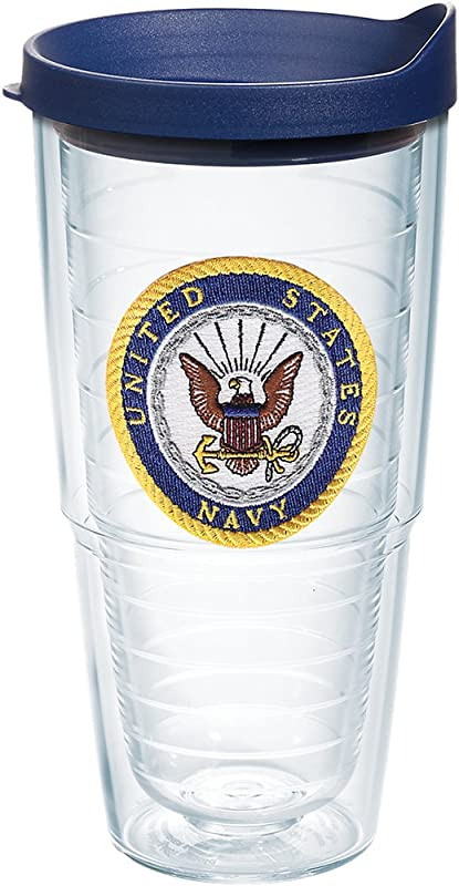 Tervis 1171912 US Navy Tumbler With Lid 24 Oz Clear