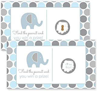 Elephant Baby Shower Scratch Off Party Game 28 pc.