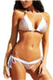 sequined halter bikini set