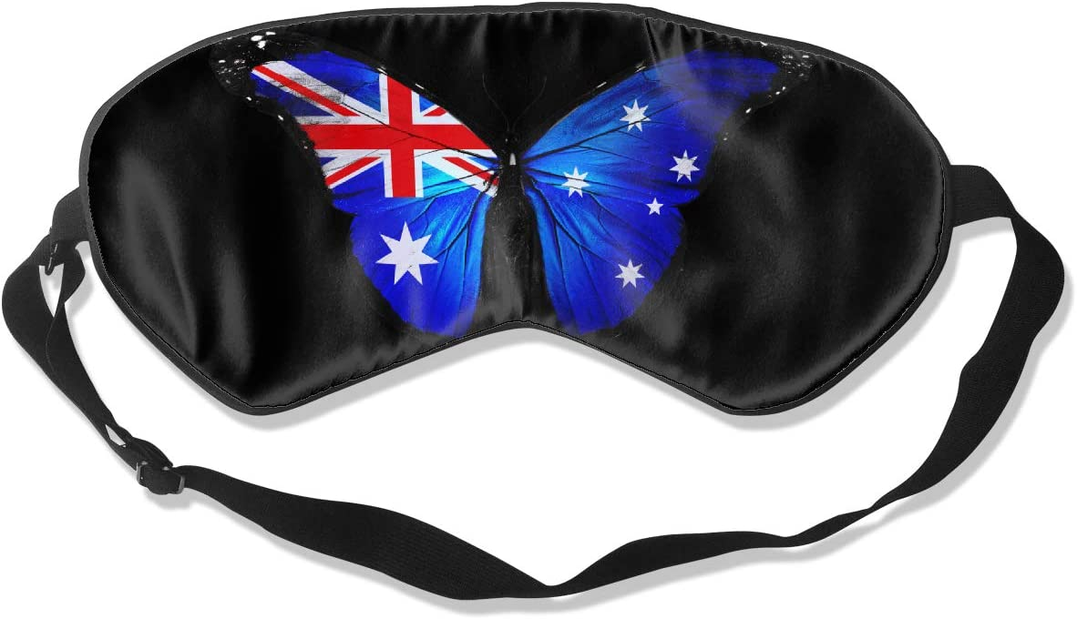 Australian Butterfly Be High material super welcome Flag Eye 100% Double-Sid Mask Sleeping