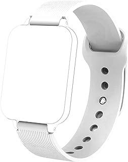 Strap Band voor B57 Smart Horloge Vrouwen Mannen Waterdicht Sweatproof 16mm Sportriem Smart Polsband Strap (Color : White)