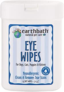 Earthbath All Natural Specialty Eye Wipes, 25 Wipes