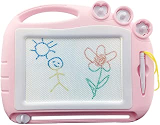 Magnetic Drawing Board Travel Size, Erasable Doodle Sketching Writing Pad Travel Games for Kids in Car, Early Education Learning Skill Development Toys for Kids Toddlers-Birthday Present Gifts