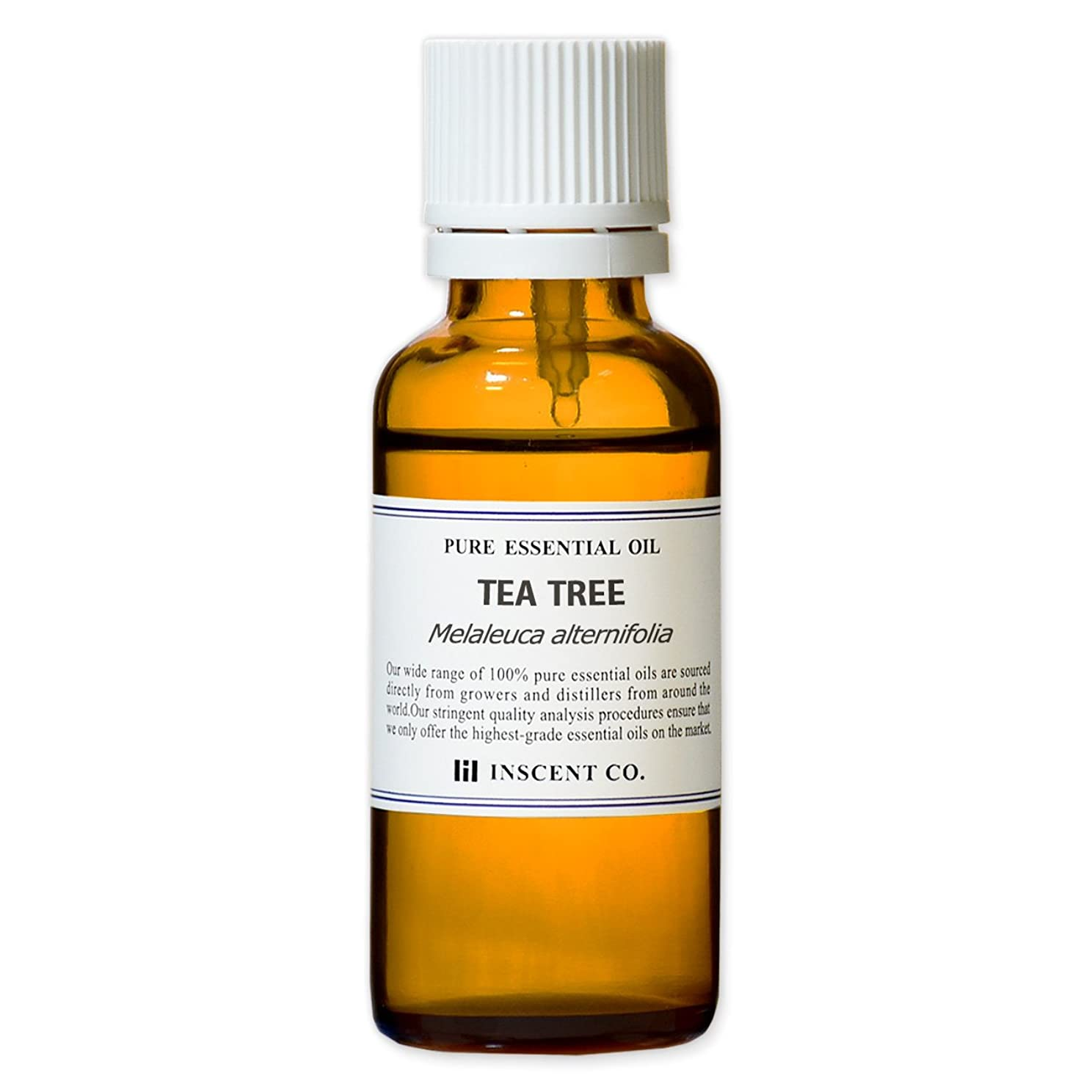 ティートリー 30ml インセント アロマオイル ティートゥリー AEAJ 表示基準適合認定精油