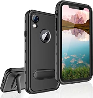 Waterproof Case for iPhone XR, Full-Body Protective iPhone XR Case Waterproof Shockproof Snowproof Clear Cover Case with Kickstand