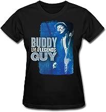 QMY Women's Buddy Guy T-shirts Black