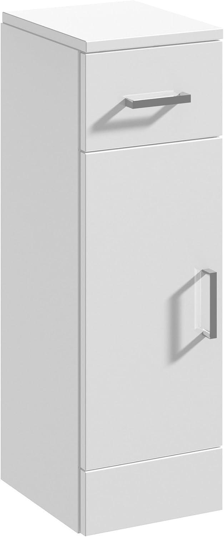 250x300mm New High Gloss White Drawer Vanity Cabinet Unit