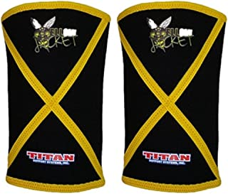 Titan Yellow Jacket Knee Sleeves - 7mm Neoprene - Powerlifting IPF Approved - Improved 3rd Generation