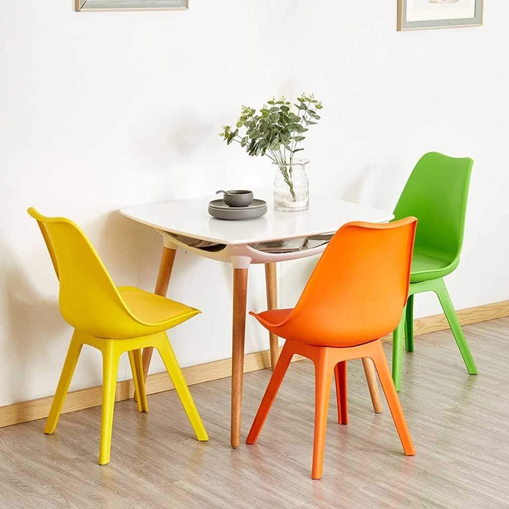 LRXG Chaises de café Chaise de Salle à Manger, Chaise latérale en Plastique Ménage Créatif Dossier Simple Europe du Nord Enfants Salon de l'adulte Chambre (Color : Green) Green