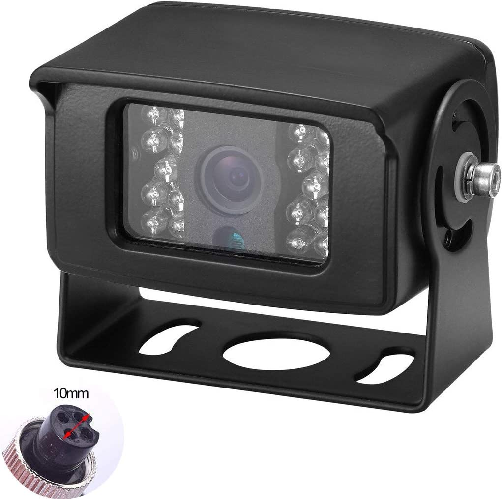 Bus Truck Backup Camera Heavy Duty Vehicle Rearview Reverse Waterproof Night Vision Camera for Travel Trailer, Pickup,Van, Oversize Truck, Fifth Wheel RV Campers Motor Home (Dual DC 12-24V)