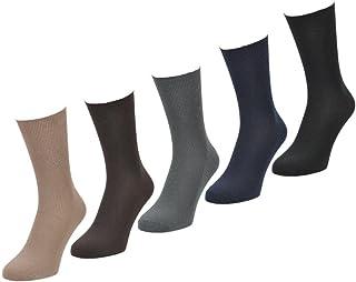 6 PARES Hombre Big Foot Top Suelto No Elástico 100% Calcetines De Algodón - Talla 11-14 - Sin elástico - algodón, Colores Claros, 100% algodón. 100% algodón, Hombre, EU 39-45/UK 6-11