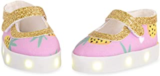 Glitter Girls by Battat – Tutty Fruity Toes Light-up Shoes with Pineapple Prints for 14-inch Dolls – Toys, Clothes, and Ac...