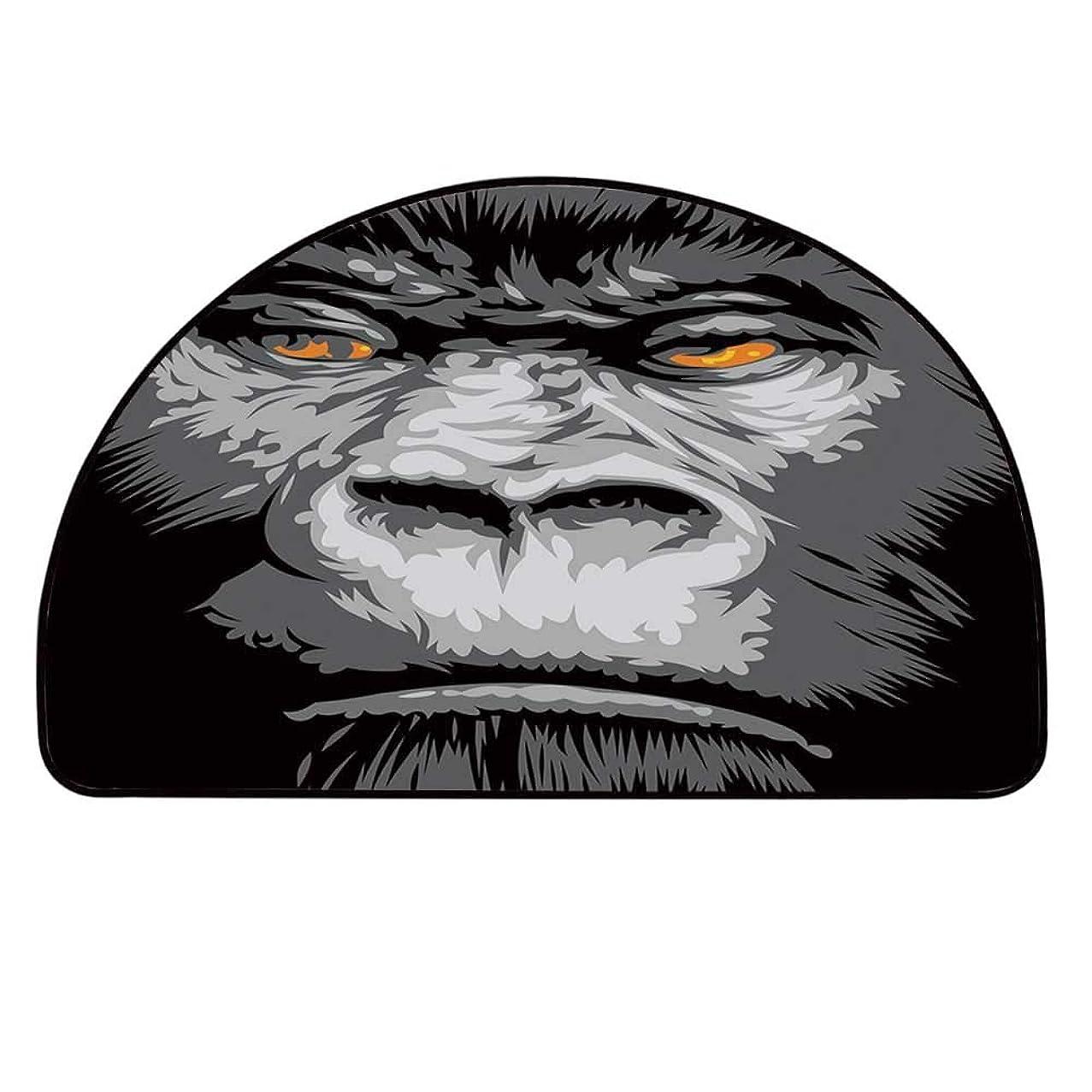 YOLIYANA Modern Doormat,Close Up Gorilla Portrait with Orange Eyes Zoo Jungle Animal Wild Money Graphic Entryway Mat,19.6