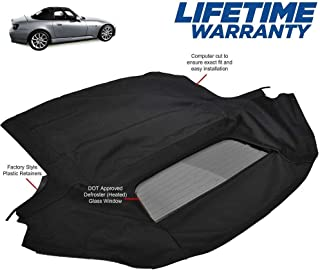 Fits: Honda S2000 Convertible Top With Heated Glass Window Black Twillweave 2002-2009