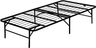 FURINNO Angeland Mattress Foundation Platform Metal Bed Frame, Twin, Black