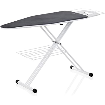 Reliable The Board Oversized 200IB Ironing Board, Grey, 19in. x 60 in., Laundry Rack, Heavy Duty Tube Frame, Height Adjustable, Ergonomic Support For Ironing Station - Made in Italy