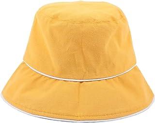 DIEBELLAU New Men and Women's Sunshade Sun Hat Leisure Travel Basin Hat Fashion People Fisherman Hat (Color : Yellow, Size : 56-58cm)
