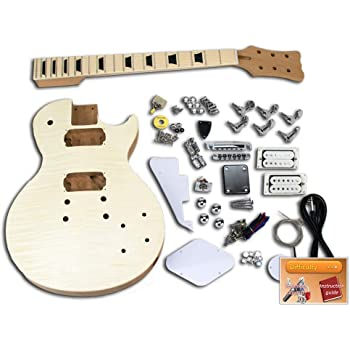 Kit de guitarra eléctrica DiY – LP Flame, caoba: Amazon.es ...