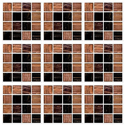 LxwSin Moderni Adesivi per Piastrelle a Mosaic, PVC Adesivi per Piastrelle a Mosaico, 30 pezzi adesivi per piastrelle a mosaico effetto pietra in marmo autoadesivi per cucina bagno, Impermeabili