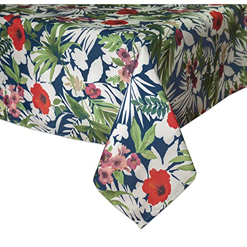 "Tommy Bahama 9175120OBLMLT Bernini Floral 60""x120"" Oblong Tablecloth"