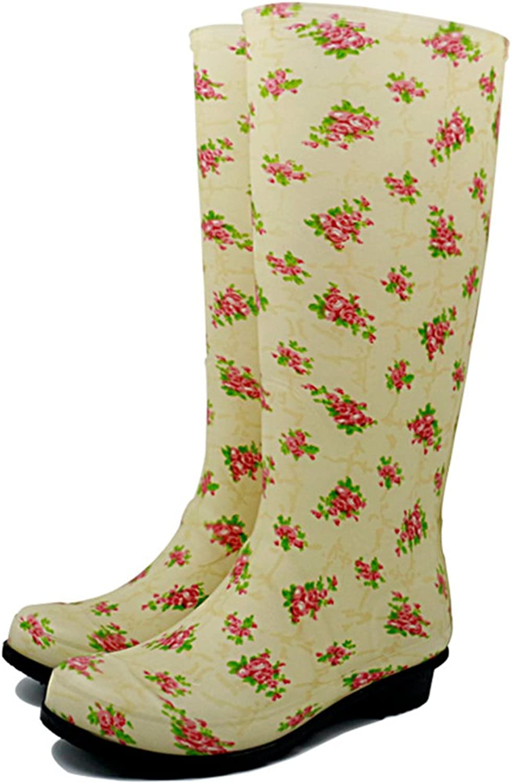 Womens Waterproof Rain Boots Rubber Festival Rain Mud Snow Ladies Round Head Hiking Fashion Wellington Wellies NonSlip Tall shoes Sizes Martin Boots
