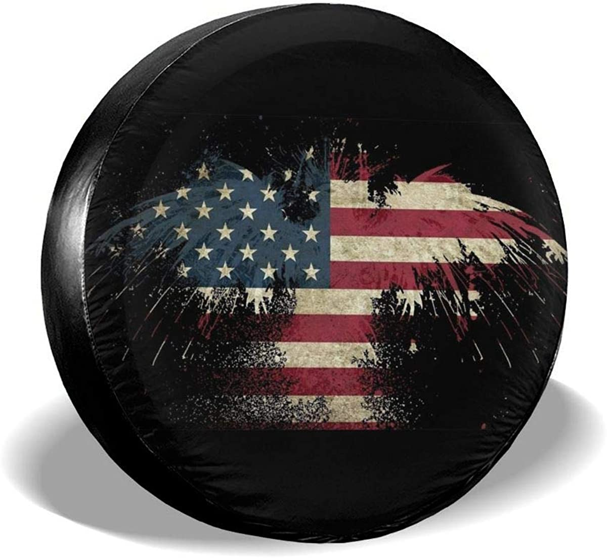 MSGUIDE Spare Tire Covers New product!! American Beauty products Flag Waterproof Dust-Pr Eagle