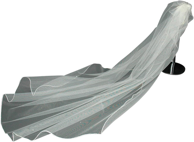 Wedding Veil White Any Length Crystal Diamante All Over 1 Single Tier LBV144