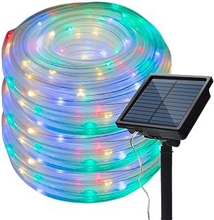 Outdoor Solar String Light 50/100/200 LED Rope Tube Solar Garden Waterproof Belt Fairy Tale Holiday Christmas Party Light ...
