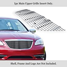 APS Compatible with 2011-2014 Chrysler 200 Stainless Steel Billet Grille Grill Insert S18-C27868R