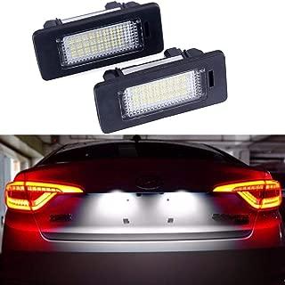 Car License Plate LED Lights 24-3528-SMD Lamp Assembly for BMW 1 3 5 X Series X5 X6 M3 E39 E60 E70 E71 E82 E90 E92 Error Free 3W 18 Led White License Plate 2-pack