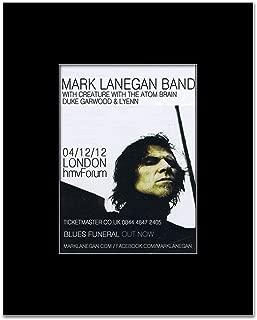 Music Ad World Mark LANEGAN - London 2013 Mini Poster - 13.5x10cm