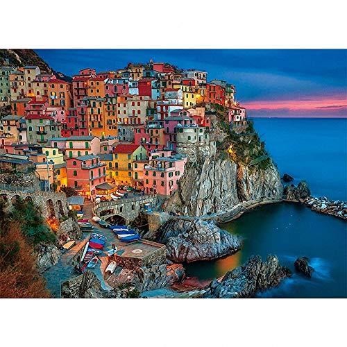 Puzzle de 1000 Piezas - Cinque Terre - Adultos, Adolescentes, niños, Rompecabezas Grande, Juguetes, Regalo, Educativo, Intelectual, descompresión, Divertido Juego Familiar