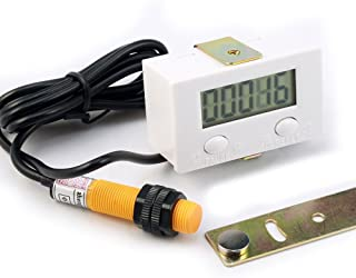 LCD Punch Counter Digital 5 Digit Proximity Switch and Strong Magnetic New