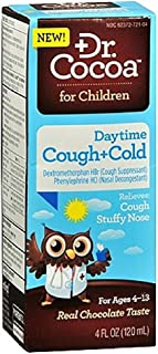 Dr. Cocoa Daytime Cough + Cold Relief, Chocolate 4 oz (Pack of 4)