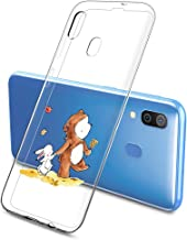 Oihxse Compatible pour Silicone Samsung Galaxy A70/A70S Coque Crystal Transparente TPU Ultra Fine Souple Housse avec Motif...