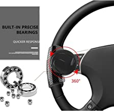 PACEWALKER Steering Wheel Knob Spinner, Easy Installation Flexible Control Universal Fit for Car Truck SUV Tractor Trailer Big Rig Boat & More (Black)