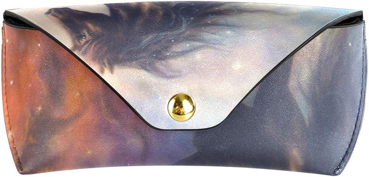 Art Galaxy Unicorn Multiuse Wallet Sunglasses Case Eyeglasses Pouch Portable Goggles Bag PU Leather