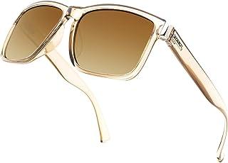 LECKIRUT Vintage Square Polarized Sunglasses for Men Women Classic Retro Trendy Stylish Shades