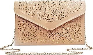 Adela Women Envelop Clutch Handbag PU Leather Glitter Sequins Shoulder Bag