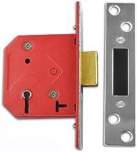 Union Sloten 2101 5-hendels Insteekslot 65mm - Satijn Chrome Finish (Boxed)